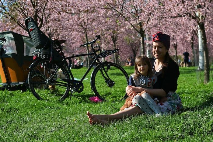 Äitienpäivän mietteitä kukkivien kirsikkapuiden alta - Lähiömutsi
