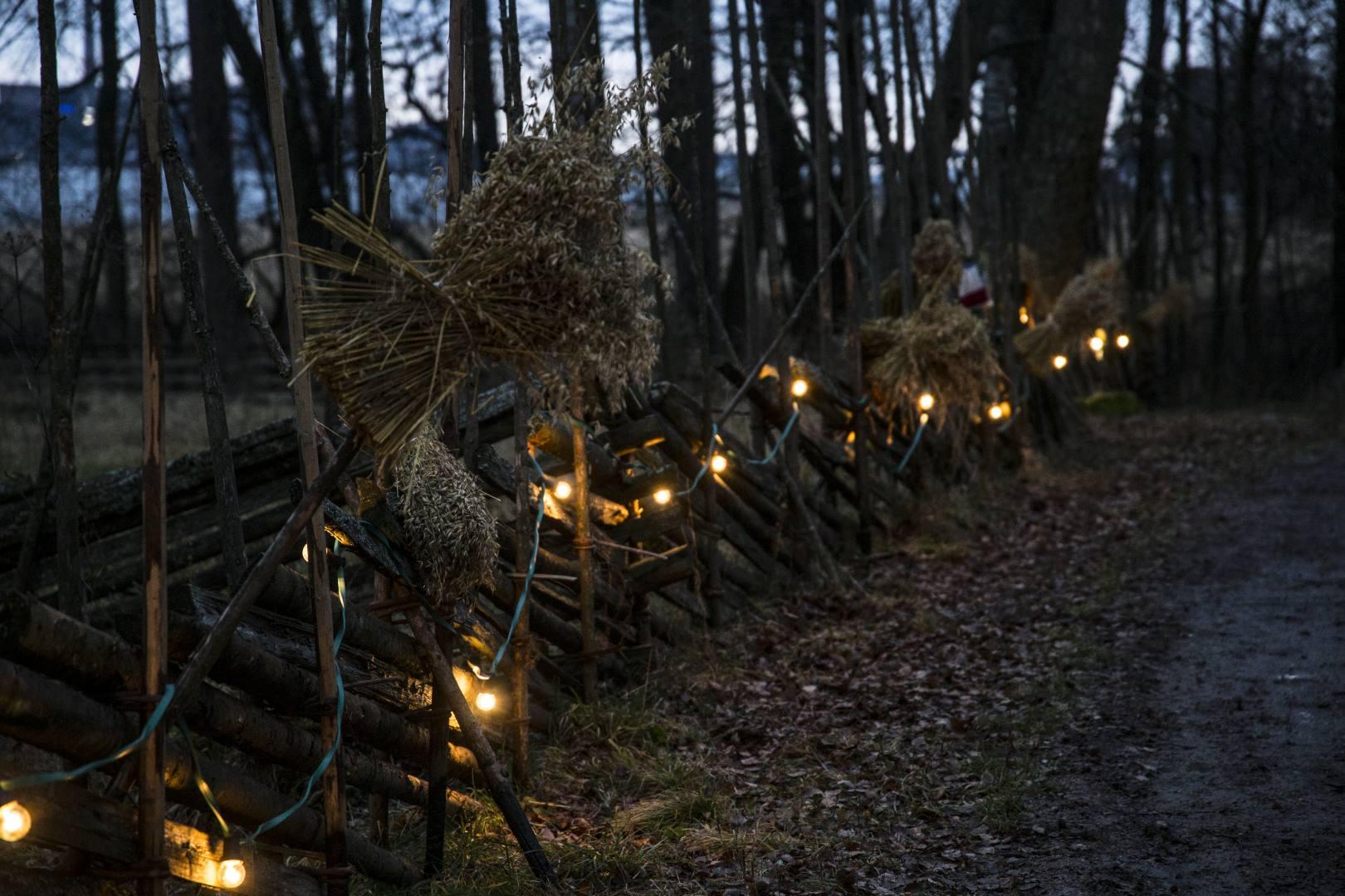 seurasaaren joulu 2018 Seurasaaren joulupolku, eli tonttuilua ja tinttailua iltahämärässä  seurasaaren joulu 2018